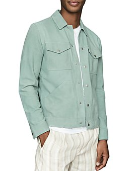 REISS - Sakura Suede Trucker Jacket