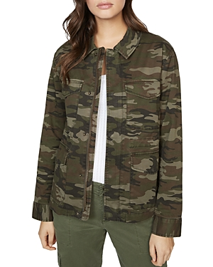 Sanctuary Flap-Pocket Camo Jacket-Women