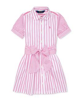 Ralph Lauren - Girls' Cotton Striped Shirtdress - Big Kid