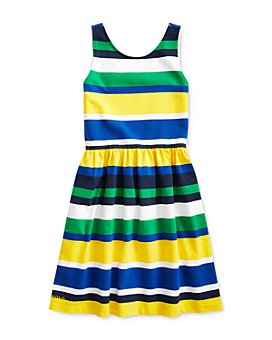 Ralph Lauren - Girls' Striped Stretch Jersey Dress - Big Kid