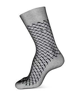 BOSS - Cotton-Blend Mini-Geo Crew Socks