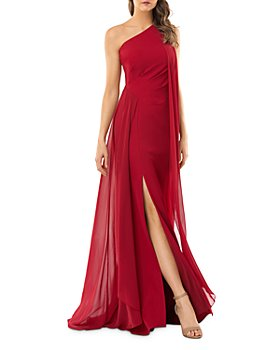 Carmen Marc Valvo Infusion - One-Shoulder Crepe Gown