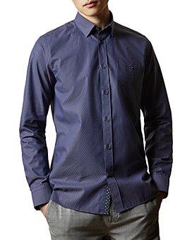 Ted Baker - Slim-Fit Diamond Dobby Shirt