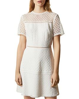 Ted Baker - Allara Short-Sleeve Lace Mini Dress