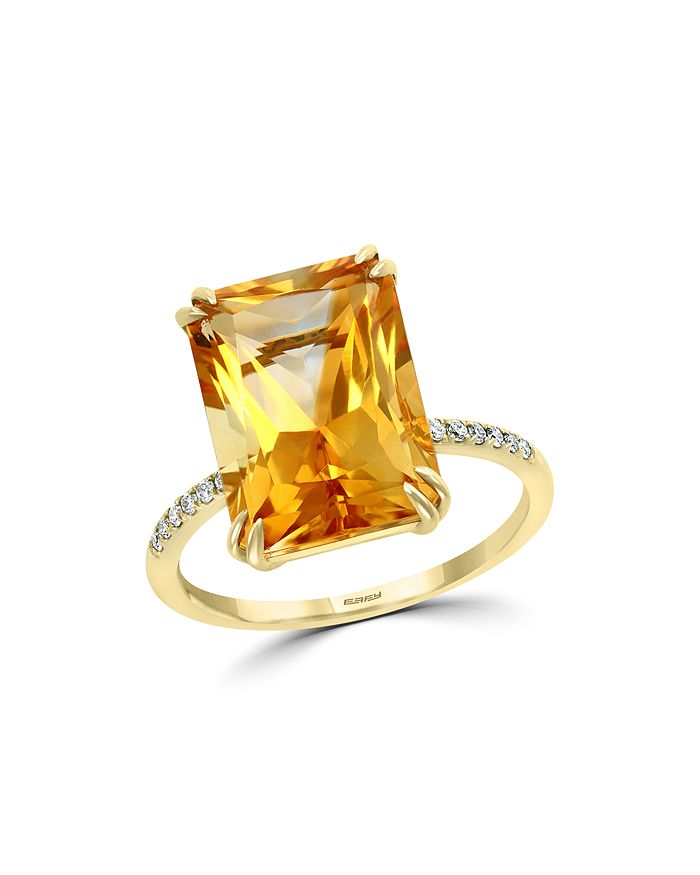 Bloomingdale's - Citrine & Diamond Statement Ring in 14K Yellow Gold - 100% Exclusive