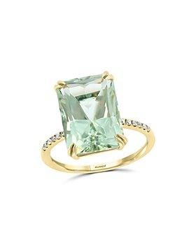 Bloomingdale's - Prasiolite & Diamond Ring in 14K Yellow Gold - 100% Exclusive