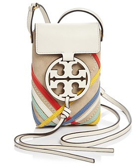 Tory Burch - Miller Mini Zig Zag Leather Phone Crossbody