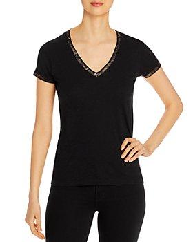 Elan - Cotton Metallic-Trim T-Shirt