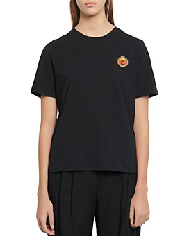 Sandro - Golan Embroidered Patch T-Shirt
