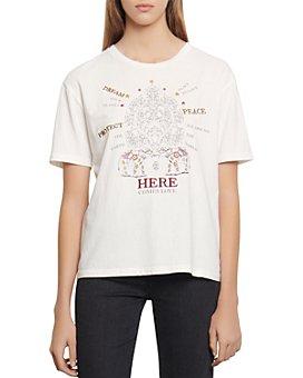 Sandro - Elphi Embroidered T-Shirt