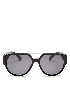 Versace - Men's Polarized Brow Bar Round Sunglasses, 58mm