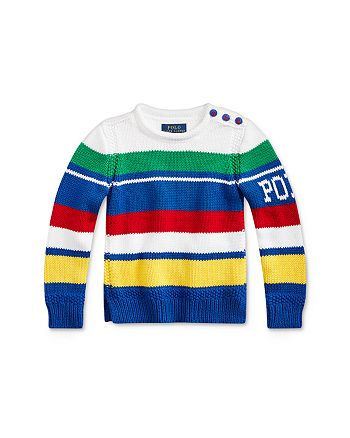 Ralph Lauren - Girls' Striped Rollneck Sweater - Little Kid