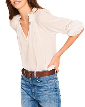 Ba & Sh Stella Lace Trim Cotton Top-Women