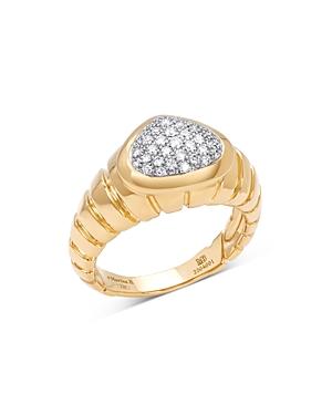 18K Yellow Gold Timo Diamond Pave Ring