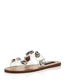 AQUA - Women's Daze Rhinestone-Strap Slide Sandals - 100% Exclusive