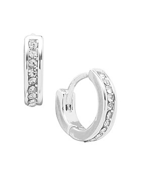 Ralph Lauren - Pavé Huggie Hoop Earrings