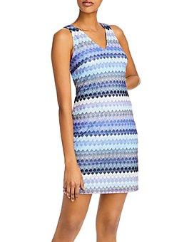 AQUA - Striped Crochet Dress - 100% Exclusive