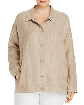 Eileen Fisher Plus - Organic Linen Jacket