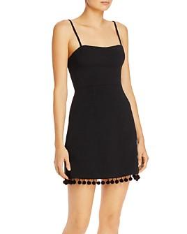 FRENCH CONNECTION - Pom Pom-Trim Mini Dress