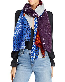 Fraas - Abstract Print Mix Scarf - 100% Exclusive