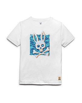 Psycho Bunny - Boys' Bunny Waves Tee - Little Kid, Big Kid