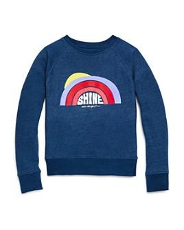 Spiritual Gangster - Girls' Shine Rainbow Raglan Sweatshirt - Big Kid