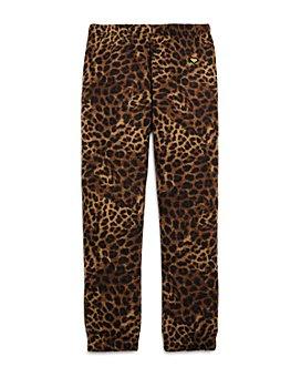 Spiritual Gangster - Girls' Cheetah Sweatpants - Big Kid