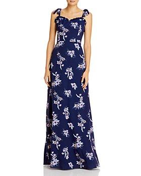 Aidan by Aidan Mattox - Floral-Print Tie-Strap Dress - 100% Exclusive