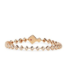 Roberto Coin - 18K Rose Gold Palazzo Ducale Diamond Square Link Bracelet
