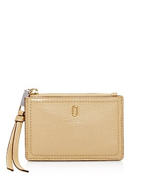 MARC JACOBS - Softshot Leather Top Zip Wallet