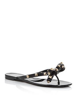 Valentino Garavani - Women's Rockstud Bow Flip-Flops