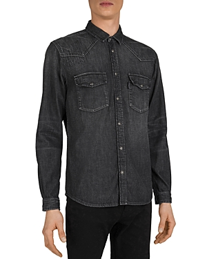 The Kooples Black Denim Shirt-Men