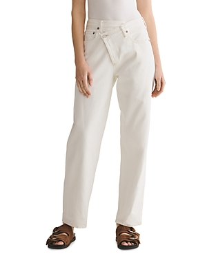 Agolde Criss Cross Cotton Straight Jeans in Paste