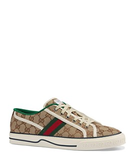 Gucci - Men's Tennis 1977 GG Canvas Lace Up Sneakers