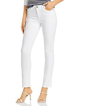 AG - Cigarette-Leg Jeans in White