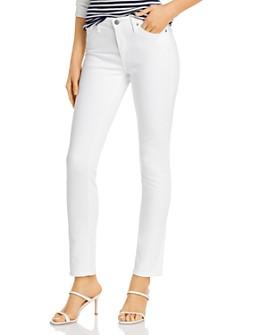 AG - Cigarette-Leg Jeans in White