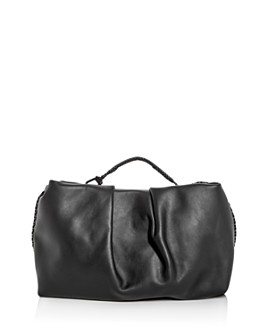 Callista - Grace Top Handle Leather Clutch Brand Name