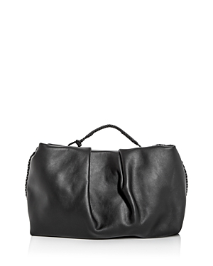 Grace Top Handle Leather Clutch