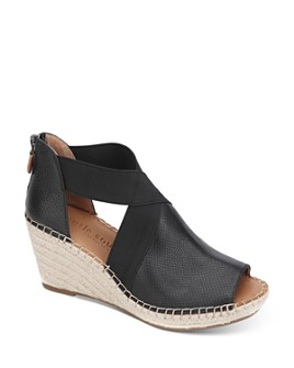 Gentle Souls by Kenneth Cole - Women's Charli Cross Elastic Espadrille Wedge Sandals