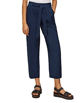 Whistles - Belted Casual Cropped Trousers