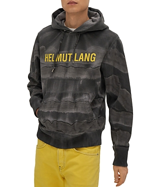 Helmut Lang Full Marble Dye Logo Standard Hoodie-Men