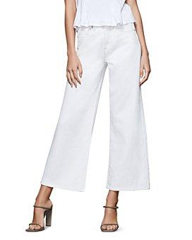 Good American - Cropped Pallazo Jeans in Ecru01