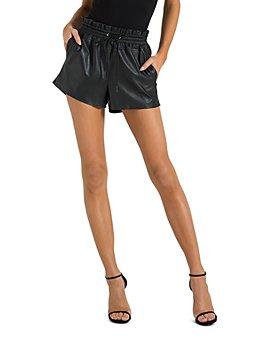 n:philanthropy - Emma Faux-Leather Shorts