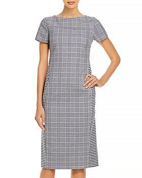 BOSS - Dimaia Checked Sheath Dress