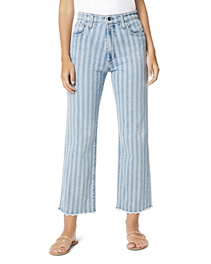 Joe's Jeans THE BLAKE STRIPED STRAIGHT JEANS IN TWO TONE