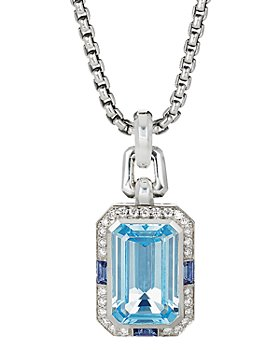 David Yurman - Novella Pendant with Blue Topaz, Sapphire & Pavé Diamonds