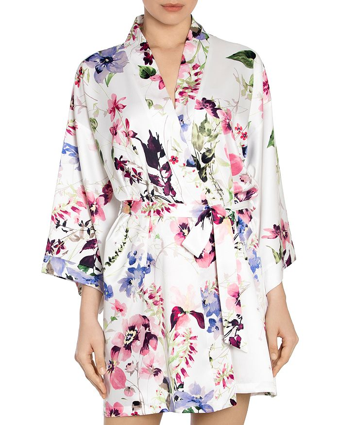 In Bloom by Jonquil - Floral-Print Wrap Robe