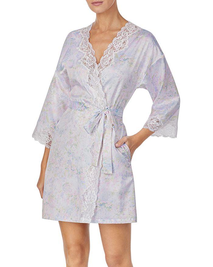 Ralph Lauren - Lace-Trim Kimono Wrap