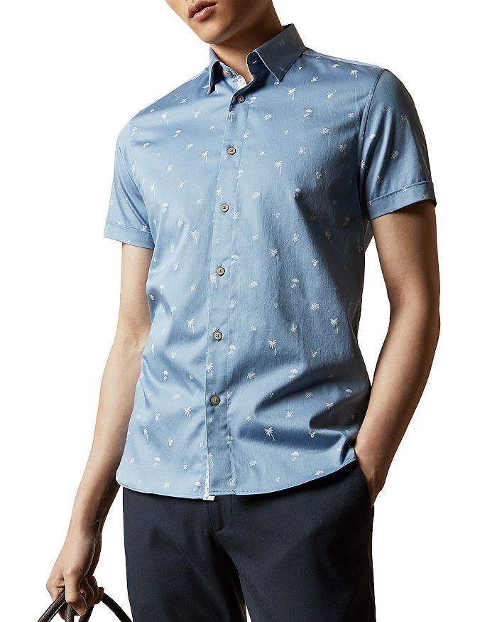 Ted Baker - Cotton-Blend Tropical Print Shirt
