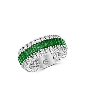 Bloomingdale's - Emerald & Diamond Ring in 14K White Gold - 100% Exclusive